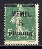 MEMEL  - 18** - TYPE SEMEUSE - Nuevos