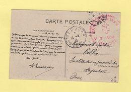Hopital Prive De La Hourne - Auch - Gers - 14-4-1915 - Marcophilie (Lettres)