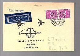 1959 Pan-American First Jet Amsterdam > New York USA (FR-53) - Periodo 1949 - 1980 (Giuliana)