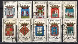 SPAGNA - 1962 - STEMMI DELLE PROVINCE SPAGNOLE - USATI - 1961-70 Oblitérés