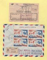 Porte Avion Foch - 12-10-1966 - Recommande Avec Recepisse - Marcophilie (Lettres)