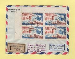 Batiment Base Maine - 10-10-1966 - Recommande - Marcophilie (Lettres)