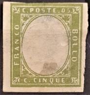 SARDINIA 1862 - MLH - Sc# 10a - 5c - Thins! - Sardaigne