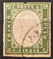 SARDINIA 1862 - Canceled - Sc# 10 - 5c - Sardaigne