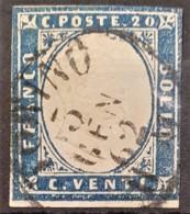 SARDINIA 1861 - Canceled - Sc# 12a - 20c - Sardaigne