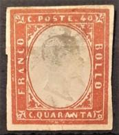 SARDINIA 1863 - MLH - Sc# 13 - 40c - Sardaigne
