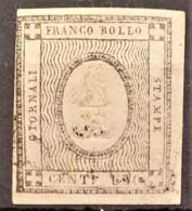 SARDINIA 1861 - MLH - Sc# P1 - 1c - Newspaper Stamp - Sardaigne