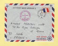 Batiment Base Morvan - 23-7-1966 - Timbre FM - Postmark Collection (Covers)