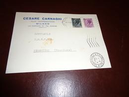 B751  Intero Postale Milano Cesare Carnaghi Filati - 6. 1946-.. Repubblica