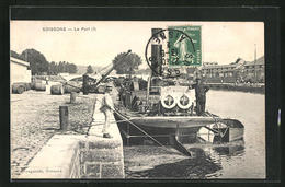 CPA Soissons, Le Port - Soissons