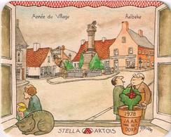 Sous Bock- Brasserie Stella-Artois 1978 Jaar Van Het Dorp - Année Du Village - Aalbeke - Sous-bocks
