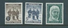 Australian Antarctic Territory AAT 1959 - 1961 The Three 5d Values MNH - Unused Stamps