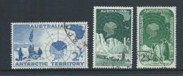 Australian Antarctic Territory 1957 - 1961 Pre Decimals 1/- 2/- & 2/3 High Values FU - Used Stamps