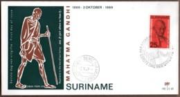 1969 Mahatma Gandhi 25c FDC E68 - Surinam ... - 1975