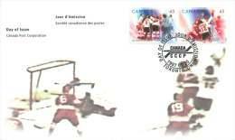 1997  First Canada - USSR Hockey Series  25th Anniversary Sc 1659-60   Se-tenant Pair - Omslagen Van De Eerste Dagen (FDC)
