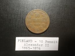 FINLANDE/Finland - 10 Penniä 1865 - Alexander II - Finnland