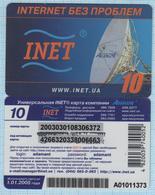 UKRAINE / Prepaid Internet Card / INET. Adamant. Satellite Antenna 2004. - Andere