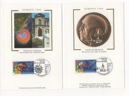 FDC France 1994 - Europa 1994  - YT 2878 & 2879 - Découvert Du Virus Du Sida Et De L'onde De Louis Broglie - Cartes-Maximum
