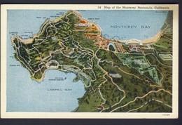 Map Of The Monterey Peninsula, California USA - Cartes Géographiques