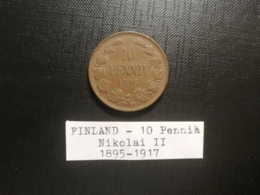 FINLANDE/Finland - 10 Penniä 1916 - Nikolai II - Finlandia