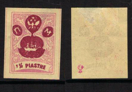 RUSSIA-LEVANT FANTASY, TURKEY - The Small Ship Design - Pale Mauve/reddish Violet 1(1/2) Piastre - MH-OG - Levant