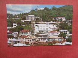 Flags Fly Over Denmark House  St. Thomas Virgin Islands Ref 3815 - Virgin Islands, US