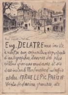 PARIS MONTMARTRE RUE LEPIC PAR EUGENE DELATRE PUBLICITE - Lithografieën
