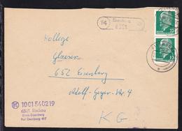 R1 14 Eisenberg 6521 + OSt. Eisenberg 29.12.71 Auf Brief Des Komsum Rockau - Non Classés