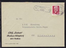 R1 14 Eisenberg 6521 + OSt. Eisenberg 28.1.72 Auf Brief Der LPG Rockau-Wetzdorf - Non Classés