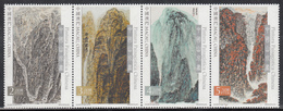 MACAU, MACAO,  2016, (2 SCANS),set4v+MS Chinese Landscape Paintings,   MNH, (**) - Unused Stamps