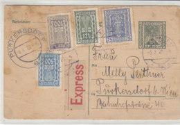 Express-Ganzsache Mit Zusatzfrankatur Aus INNSBRUCK 5.10.22 Nach Purkersdorf / Erhalt - 1918-1945 1st Republic