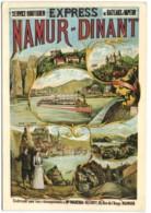 Express Namur-Dinant - Ancienne Aaffiche 1900 - Namur