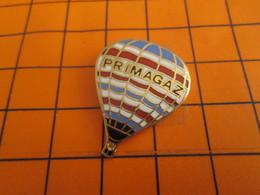 2119 Pin's Pins / Beau Et Rare / Thème MONTGOLFIERES / BALLON LIBRE PRIMAGAZ - Gewichtheben