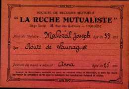 """SOCIETE DE SECOURS MUTUELS..""""LA RUCHE MUTUALISTE""""...NOM DU TITULAIRE.... - Mappe"""