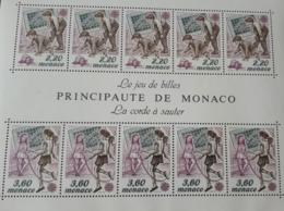 MONACO BLOC FEUILLET BF46 YT 46 JEU DE BILLES CORDE A SAUTER 1989 NEUF SANS CHARNIERE**TTB - Monaco