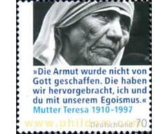 Ref. 252474 * MNH * - GERMAN FEDERAL REPUBLIC. 2010. MOTHER TERESA OF CALCUTA NOBEL OF PEACE . MADRE TERESA DE CALCUTA - Mutter Teresa