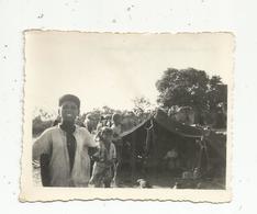 Photographie, Issue D'un Album,mon Service Militaire En Tunisie, NOMADES A SEDJOUNI,1947 - Luoghi