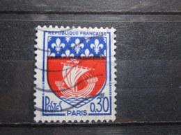 VEND BEAU TIMBRE DE FRANCE N° 1354B , BATEAU HORS DE L ' EAU !!! - Variétés: 1960-69 Oblitérés