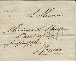 1785 - Lettre De LEIPZIG  -entrée Française D'ALLEMAGNE  ( 37 Mm Noir) Taxe 24 Pour Beaune (France ) - Storia Postale
