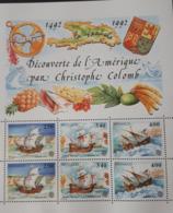 MONACO BLOC FEUILLET BF57  YT57 DECOUVERTE DE AMERIQUE PAR CHRISTOPHE COLOMB 1992 NEUF SANS CHARNIERE**TTB - Monaco