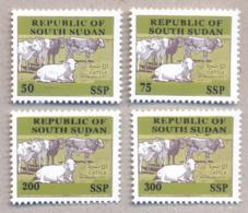 SOUTH SUDAN Proof Unissued Issue 2019 Overprint Cattle SOUDAN Du Sud Südsudan - Sud-Soudan