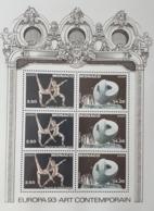 MONACO BLOC FEUILLET YT61 ART CONTEMPORAIN 1993 NEUF SANS CHARNIERE**TTB - Ungebraucht