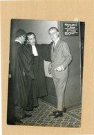 PHOTO PRESSE / AFFAIRE LUCIEN LEGER . YVES TARON  Et Ses Avocats   VIZZAVONA Et ALBERT VIGNOLES - Personnes Identifiées