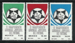 1983 MÉXICO II CAMPEONATO MUNDIAL JUVENIL DE FÚTBOL Sc 1315-1317 (3) MNH Soccer Football Youth World Championship - Mexico