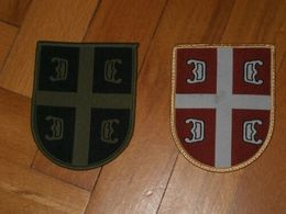 Serbian Army Patches For Regular And Camouflage Uniform - FREE SHIPPING!!! - Patches