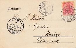 Ansichtskarte Stubbenkammer/Rügen 1902 Nach Dänemark - Allemagne