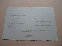 Lucrèce KEERMAN & Karel MANNENS Op 18 Mei 1960 Te ZOMERGEM ( Zie / Voir Photo ) Huwelijk ! - Mariage