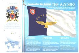 POSTAL   BANDERA DE THE AZORES  (PORTUGUES) - Otras Colecciones