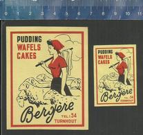 TURNHOUT - BERGÈRE PUDDING WAFELS CAKES ( SCHAPEN MOUTONS HERDERIN ) (matchbox Labels Belgium) - Boites D'allumettes - Etiquettes