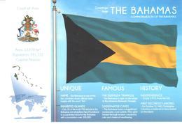 POSTAL   BANDERA DE THE BAHAMAS - Otras Colecciones